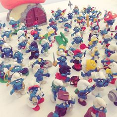 Plenty of #Smurf #collectables in for our #toy #auction next Weds! Catalogue online this Saturday.  #toyauction #toys #collectables #collectibles #smurfs #smurfette #smurfworld