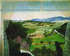 grandma moses painting,,,, love the folk art!