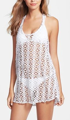 Steve Madden Crochet Cover-Up Crochet Cover Up, Crochet Top, Fashion Slippers, Swimwear Cover Ups, Just Girl Things, Fashion Moda, Crochet Fashion, Crochet Clothes, Pretty Outfits