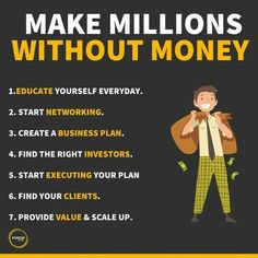 Business Money, Business Advice, Business Motivation, Business Entrepreneur, Business Planning, Financial Quotes, Creating A Business Plan, Inspirational Quotes About Success, Self Improvement Tips