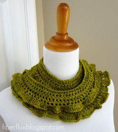 Fiber Flux: Free Crochet Pattern... Arugula Scarf