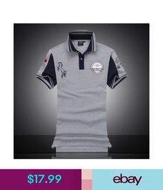 11164eb3b Casual Shirts Brand Men s Short Sleeve Polo T Shirts 100%Cotton Summer Shirt  All Size  ebay  Fashion