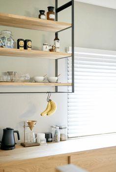 廚房後吊櫃 Kitchen Dining, Dining Room, Floating Shelves, Home Decor, Iron, Dinner Room, Homemade Home Decor, Kitchen Dining Living, Wall Mounted Shelves