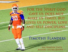 Timothy Flanders - Running Back for Sam Houston State University (SHSU) -  vs INCWOR - timluanne Productions