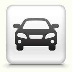 Square Button with Luxury Car royalty free vector art vector art illustration