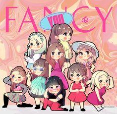 fancy twice art Kpop Fanart, Anime Chibi, Kawaii Anime, K Pop, Ariana Grande Drawings, Twice Fanart, Kpop Posters, Jihyo Twice, Kpop Drawings