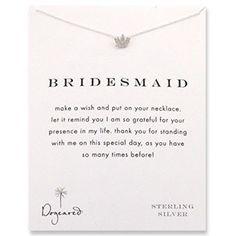 so cute – Bridesmaid wish necklace
