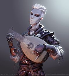 Jecht - Changeling Bard Commission, April Marble on ArtStation at https://www.artstation.com/artwork/ZmDvX