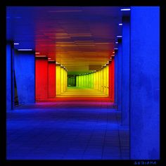 colour hallway - - is this the gateway to a gay heaven ..... ;-)
