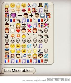 Les Miserables explained in a text message…definitely doesn't do it justice...but kind of hilarious!