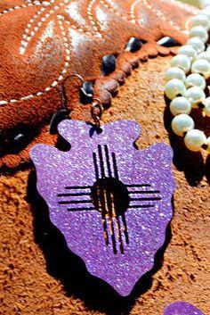 Purple Arrow Earrings by GlmgrlsBoutique on Etsy