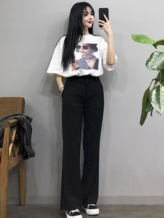 Fashion Outfits Teenage korean For Your Perfect Look This Summer - Fashion Teenage Korean Girl Fashion, Korean Fashion Trends, Korean Street Fashion, Ulzzang Fashion, Korea Fashion, Asian Fashion, Look Fashion, Korean Fashion Summer Casual, Cheap Fashion
