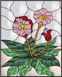 US-StainedGlass.com - Stained Glass Window Preview Of Design 281