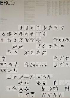 Munich 1972 Olympics Event Icons - Otl Aicher