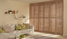 Plantation Shutters - add a touch of luxury & elegance to your home Blinds And Curtains Living Room, Diy Blinds, House Blinds, House Doors, Blinds Curtains, Roman Blinds, Wooden Window Blinds, Faux Wood Blinds, Bamboo Blinds
