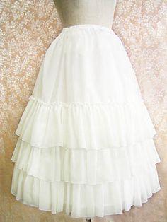 Lolibrary | Victorian Maiden - Skirt - Long Chiffon Under Skirt