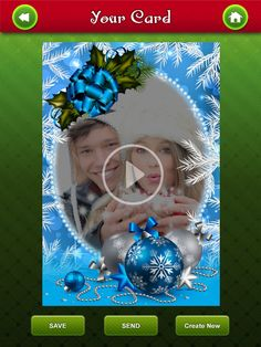 Design beautiful, personalized video Christmas cards in just a few seconds using your iPhone/iPad!