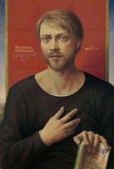 Self-Portrait, Michael Triegel (German, born New Leipzig School, Institutional Critique, Appropriation Art, Portrait Images, Portraits, Internet Art, New Media Art, Guy, Feminist Art