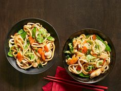 Stir Fried Udon With Chicken And Vegetables Recipe Food Network Kitchen Food Network. Taco Bowls {Health Veggie Packed Recipe} Cooking Classy - The Golden Ways Chinese Vegetables, Mixed Vegetables, Chicken And Vegetables, Vegetable Dishes, Vegetable Recipes, Chicken Udon, Fried Udon, Frozen Chicken Recipes, Recipe Chicken