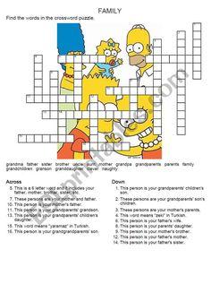 family members crossword puzzle - ESL worksheet by tnrbasaran Vocabulary Worksheets, Worksheets For Kids, 6 Letter Words, Teacher Sites, Family Relations, Sentence Writing, Fifth Grade, Word Families, Crossword