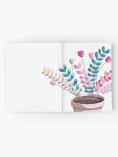 'Colour Pop Plant' Hardcover Journal by PounceBoxArt Journal Design, Notebooks, Decorative Bowls, Pop, Prints, Color, Colour, Popular, Newspaper Design
