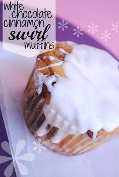 white chocolate cinnamon swirl muffins