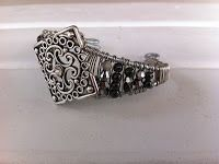 Wire-wrapped cuff bracelet