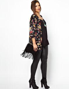 ASOS CURVE - Kimono In New Floral Print