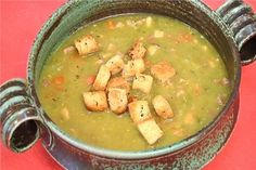 Split Pea and Ham Soup (Dan Eaton)  I make this from leftover Easter ham every year.