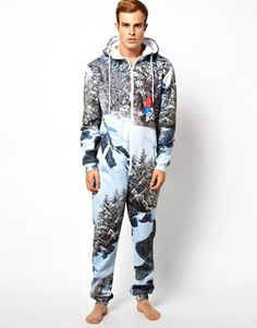 I would rock this so hard on snow days and post-mountain shredding. #Onesie