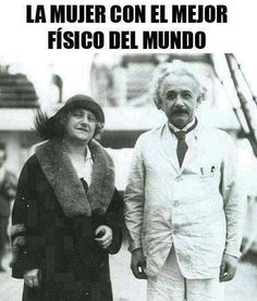 Albert Einstein e sua esposa Elsa. Funny Images, Funny Pictures, Funny Pics, Funny Jokes, Hilarious, Spanish Jokes, Mexican Humor, Humor Mexicano, Frases Humor