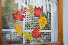 Image result for leaf window painting