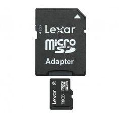 La carte mémoire microSDHC de Lexar permet de stocker toutes vos données numériques (images, vidéos, musique) et d'en profiter sur votre smartphone ou votre tablette. Cette carte mémoire est livrée avec un adaptateur SD.