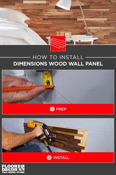 How to install Dimensions Wood Wall Panels from Floor & Decor Wood Panel Walls, Wood Wall, Wood Stone, Home Repairs, Floor Decor, Diy And Crafts, Flooring, Tips, Products