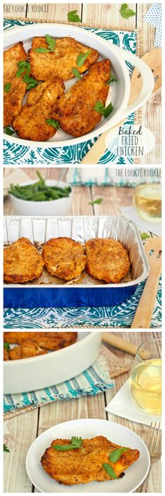 Oven BAKED Fried Chicken! Simple, delicious, crispy, and HEALTHY! LOVE this recipe.  - The Cookie Rookie