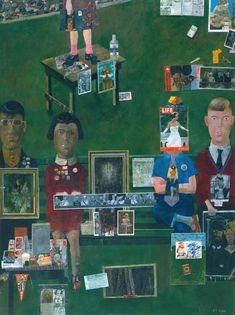 Op het balkon ~ 1955-1957 ~ Olieverf op doek ~ 121,3 x 90,8 cm. ~ Tate Britain, Tate Gallery, Londen