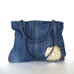 Bolso de vaqueros reciclados  bolso del dril de algodón