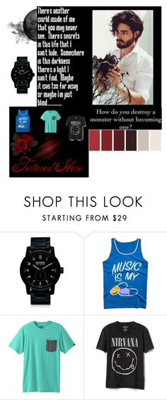 """""""Untitled #1"""" by selma55 ❤ liked on Polyvore featuring Nixon, Local Celebrity, prAna, Gap, men's fashion and menswear"""