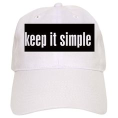 Keep It Simple - Bumper Sticker Baseball Cap 2c80e05062af