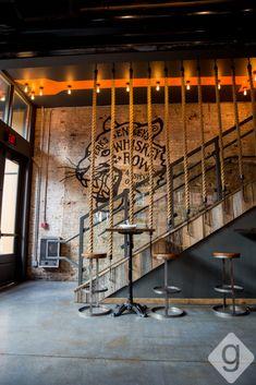 A Look Inside: Dierks Bentley's Whiskey Row Brewery Design, Pub Design, Home Gym Design, Coffee Shop Design, Store Design, Sport Bar Design, Gym Interior, Bar Interior Design, Restaurant Interior Design