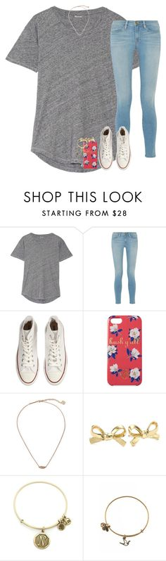 """""""make your best mistakes"""" by hailstails ❤ liked on Polyvore featuring Madewell, Frame Denim, Converse, Draper James, Kendra Scott, Kate Spade, Alex and Ani and 15daysofShawnwKarina"""
