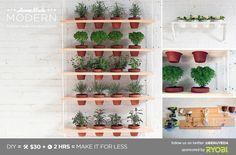 HomeMade Modern DIY Hanging Garden Postcard