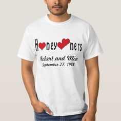 Personalized Honeymooners and Hearts T-Shirt