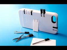 IN1 Case - Multi-Tool iPhone Case. 8-in-1: blue or red pen, phillips screwdriver, flat-head, kickstand, nail file, tweezers, scissors & a toothpick.