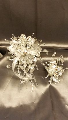 Arm Corsage of all Bling for Prom with matching  bout.