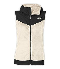 Oso #Hooded Vest. If you like coarse, abrasive, gnarly-feeling fabrics, you'll hate this ridiculously comfortable #vest that's crafted of soft, silken #fleece. Now designed with athletic-inspired stretch hem and cuffs, for a flattering fit that hugs your body. Two sleek hand pockets provide space to stash your hands, or other petite items.