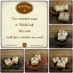 Five restocked soaps at HaldeCraft this week! Well four restocks (Lavender Lemon Raspberry Lemonade Orange Ginger and White Tea & Ginger)... and one brand new fragrance! Goblin King; musky earthy just enough of a hint of floral to make it a not over-the-top woodsy fragrance... and like Jareth himself it's an enigmatic thing sure to enchant.  You can find all my soaps here (http://ift.tt/22DEIHx). Thanks y'all!