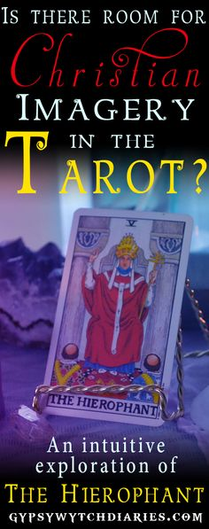 """The Major Arcana suit of the Tarot deck represents archetypes in the human collective consciousness. The Hierophant, called """"The Pop"""" in some decks, is a controversial card because it mimics very Christian imagery. If divination is against the Christian religion, why is this card in the deck? Many New Age practitioners left the Christian tradition, and have a gut reaction when this card comes up in a reading. In this video, we'll discuss shadow associations in the Tarot as well as…"""