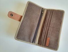 Minimalist Wallet, Waxed Canvas, Phone Wallet, Header, Trending Outfits, Grey, Brown, Unique Jewelry, Colors