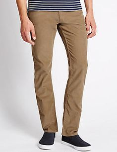 Pure Cotton Jean Style Corduroy Trousers #trousers #leggings #skinny #men #man #fashion #style #marksandspencer #erkek #pantolon #mscollection #autograph #blueharbor #limitededition #slimfit #straightfit